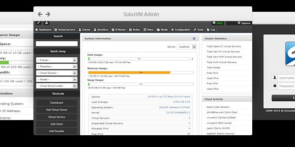 SolusVM - vps management portal