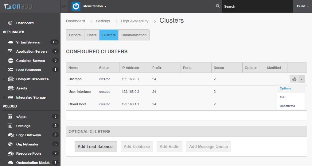 OnApp cloud high availability configuration