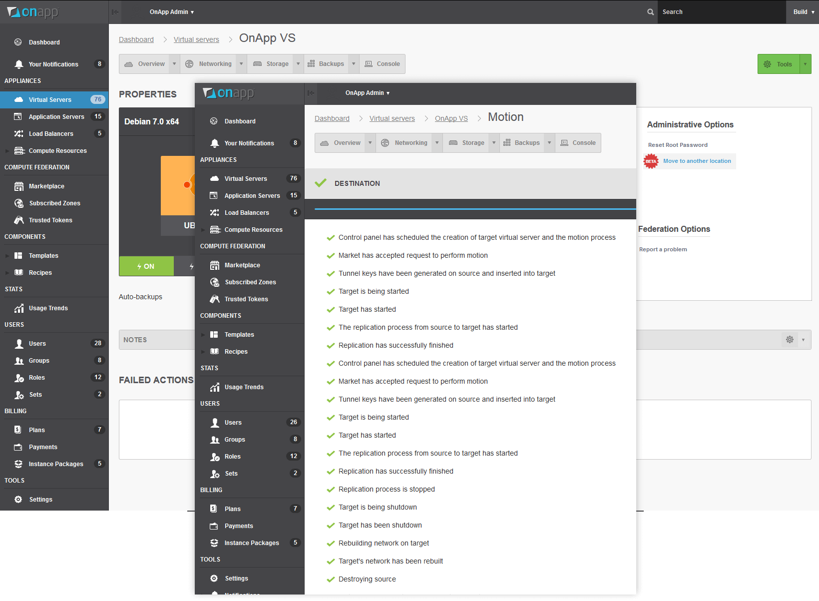 OnApp v5.2 Cloud Motion - migrate workloads around OnApp clouds