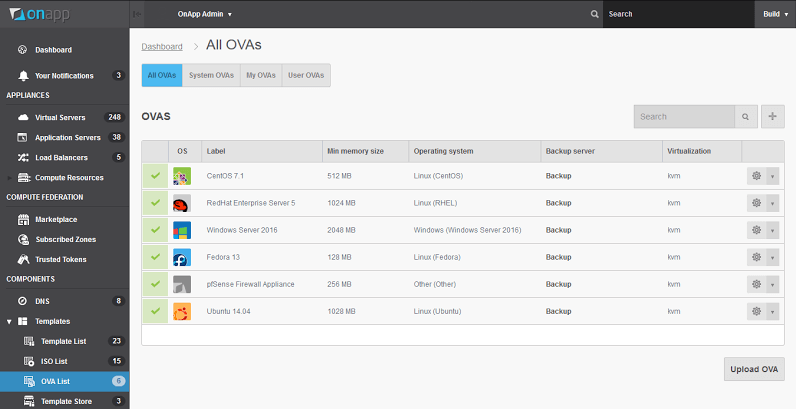 OnApp v5.2 - import VMs from legacy clouds via OVA