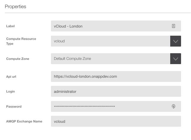 OnApp for vCloud Director set up - adding vCD details
