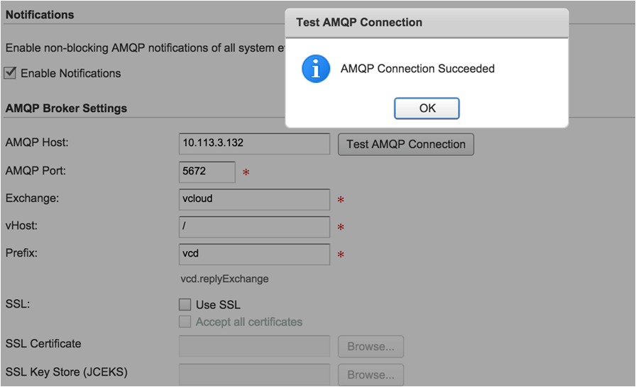 OnApp for vCloud Director set-up - AMQP