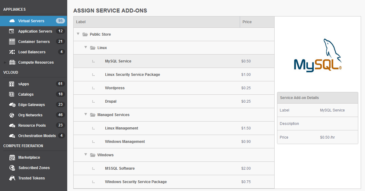 OnApp v5.3 - assigning service add-ons