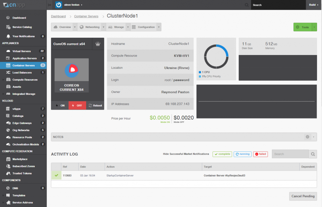 OnApp Platform v5.3 Container Servers