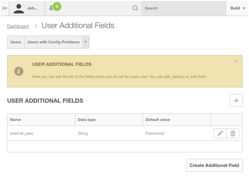 OnApp user additional fields