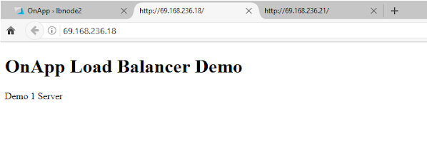 OnApp load balancer test server 2