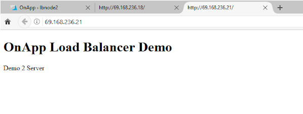 OnApp load balancer test server 1