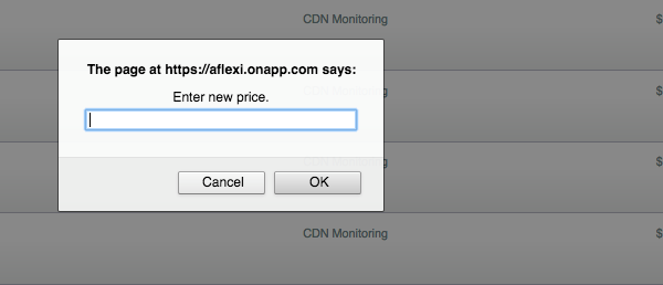 OnApp Federation private CDN price set