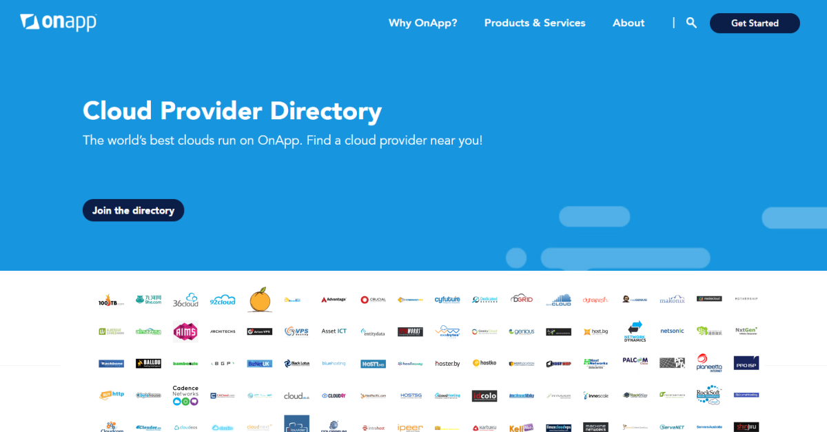 Cloud Provider Directory - Find an OnApp cloud provider near